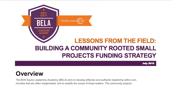 lessons from the field funding strategy