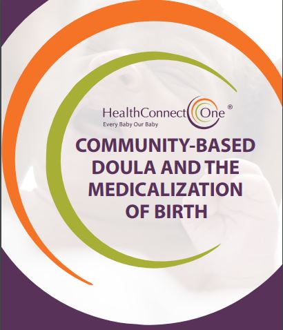 birth equity brief 2 report cover: community based doula and medicalization of birth